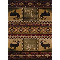 United Weavers of America Affinity Collection Hunters Dream Rug, 1-Foot 10-Inch by 7-Feet 2-Inch, Brown