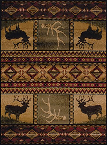 United Weavers of America Affinity Collection Hunter's Dream Rug - 1 ft. 10in. x 3ft., Brown, Decorative Rug, Lodge Style, Modern Indoor Rug