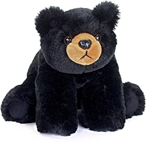 Bearington Baby Bandit Plush Stuffed Animal Black Bear Teddy, 12.5