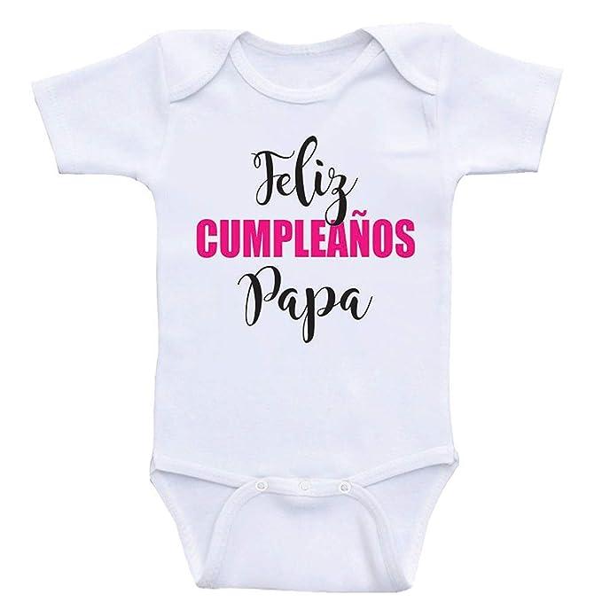 Amazon.com: Promini Cute Baby Onesie - Feliz Cumpleanos Papa ...