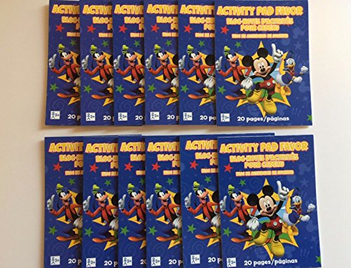 Set of 12 Mickey Mouse Mini Activity Pad Party Favors