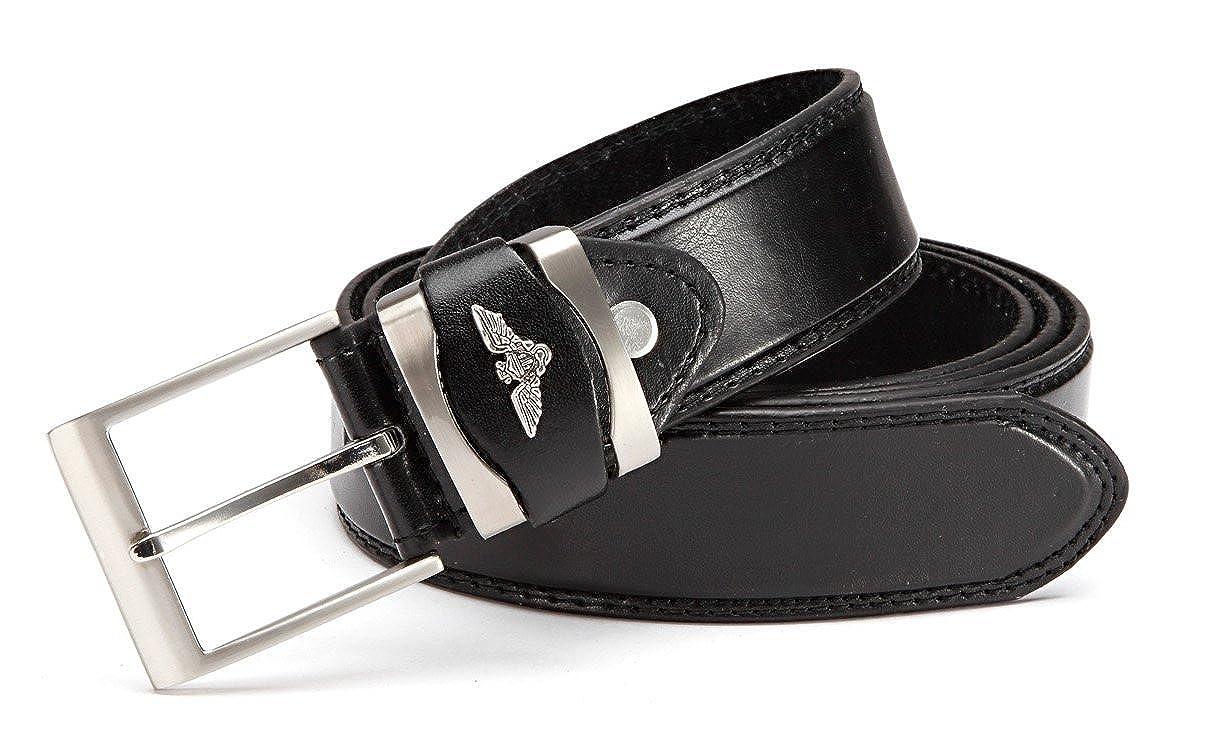 XXL Gürtel bis 165 cm Bundweite braun 3 cm breit kürzbar mit Leder Überlänge
