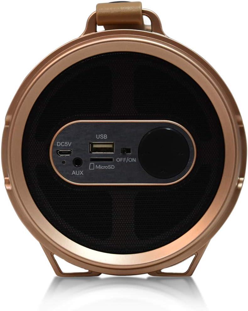 AXESS SPBL1045 Maxi Portable Bluetooth Hi-Fi Bluetooth Speaker with Dancing LED Lights Black