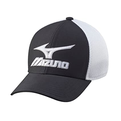 Buy Mizuno Men s Phantom Mesh Fitted Golf Cap (Black White) Online ... 1dc2d670dc3c