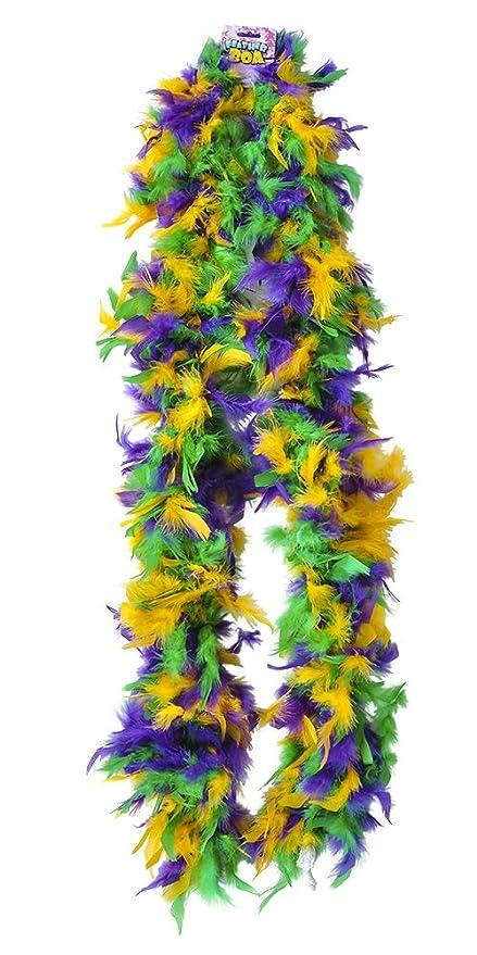 New Deluxe Mardi Gras 72u0026quot; Costume Accessory Feather Boa