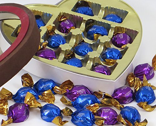 Easter Chocolate Gift Box. Includes selection of GODIVA chocolate truffles in an elegant heart shaped, window gift box. For Dad, Mom, Husband, Wife, Girl or Boyfriend.