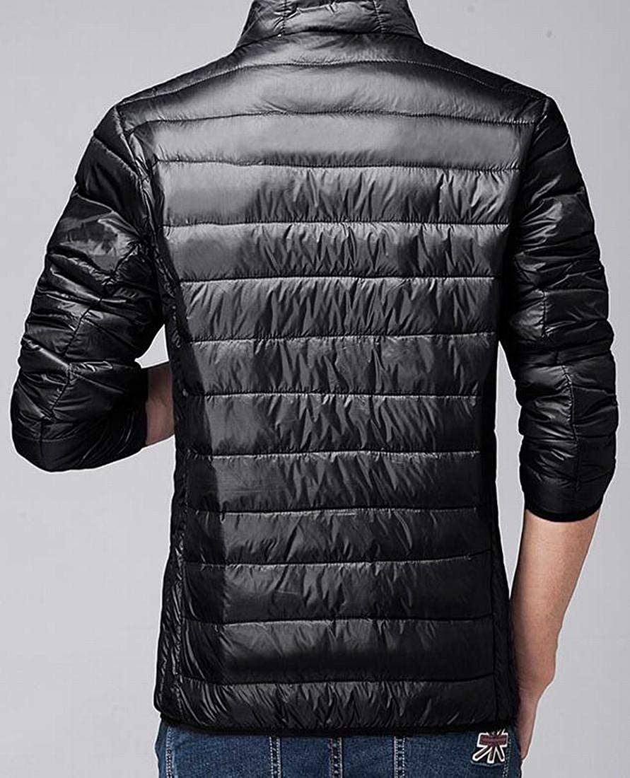 OTW Mens Solid Warm Fall /& Winter Full-Zip Slim Down Puffer Coat Quilted Jacket Outerwear