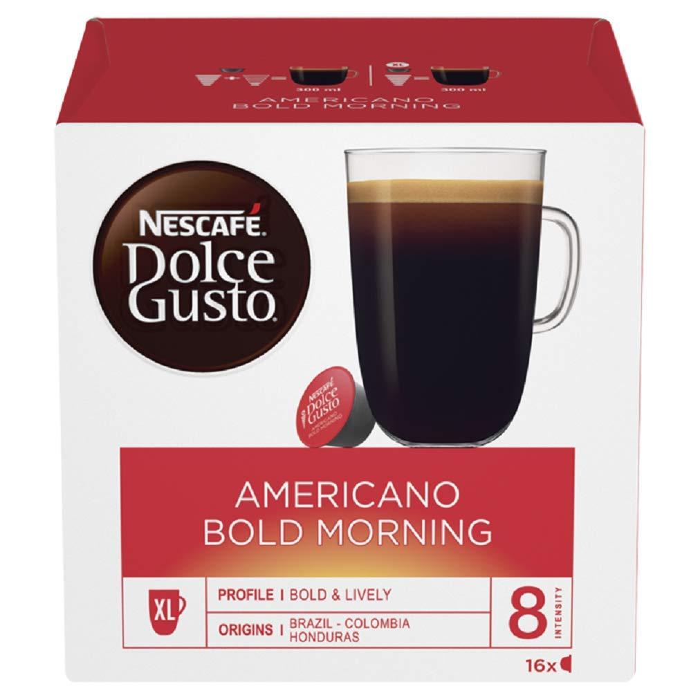 Nescafé Dolce Gusto Americano Bold Morning Coffee Pods, 16 Capsules