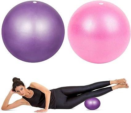 HQdeal 2 Piezas 23cm Pelota de Ejercicio de Pilates Mini Pelota Pilates Balones Yoga, Rosado y Morado: Amazon.es: Deportes y aire libre
