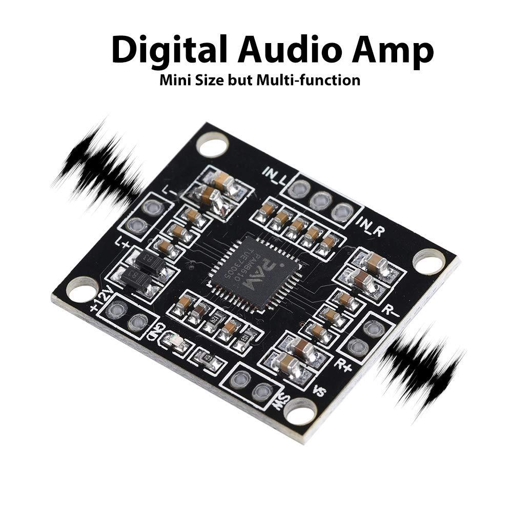 Class D 12V 15W Digital Audio Amplifier Board Amp Dual Channel Video Stereo Module 2 Pcs Amplifier Board