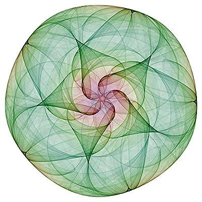 Green Mandala Wall Decal Wallmonkeys Peel and Stick Graphic WM209580