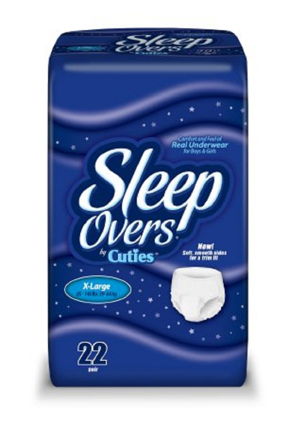 Cuties - Sleep Overs - Youth Absorbent Underwear - Pull On X-Large Disposable Heavy Absorbency - 88/Case - McK