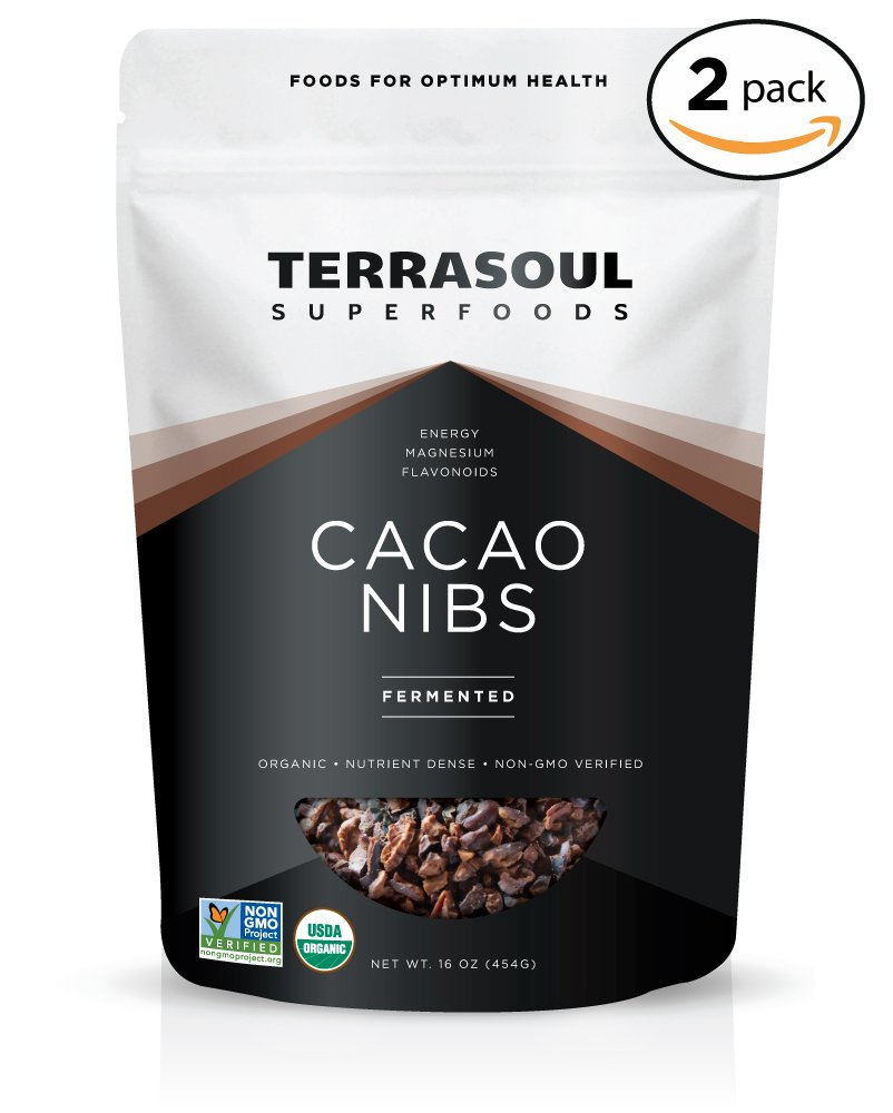 Terrasoul Superfoods Raw Organic Criollo Cacao Nibs, 2 Pounds