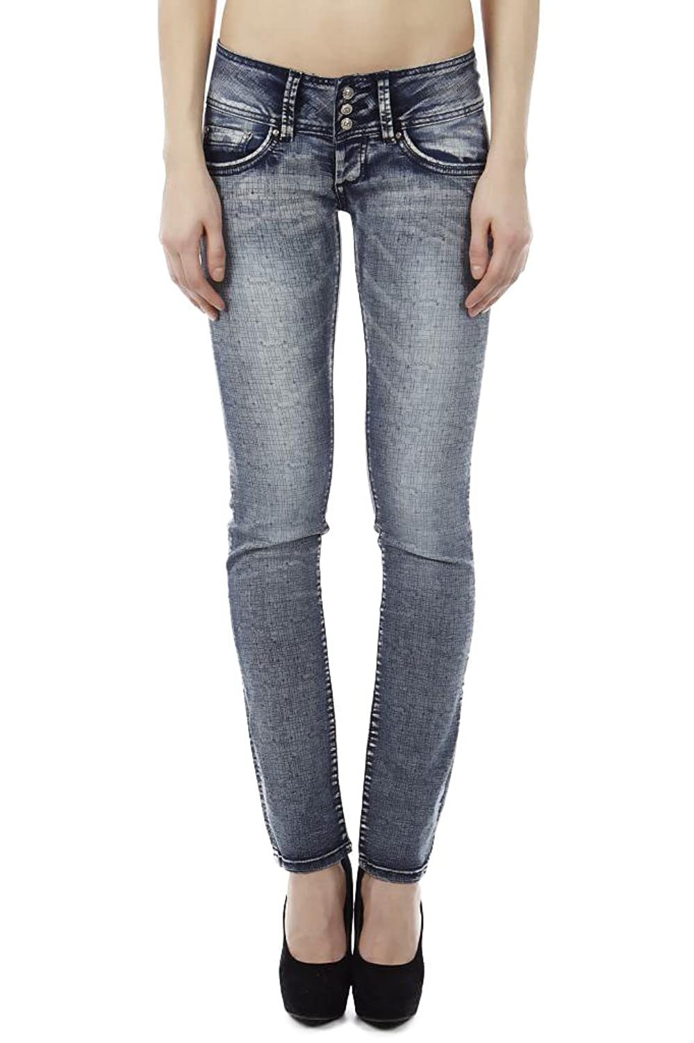 Dinamit Juniors Triple-buttoned, Mid-rise, Vintage Distressed Skinny Fit Jeans