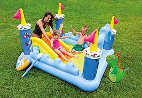 Intex Inflatable Fantasy Castle Play Center Kiddie Pool with Slide (Intex Fantasy Castle Play Center)