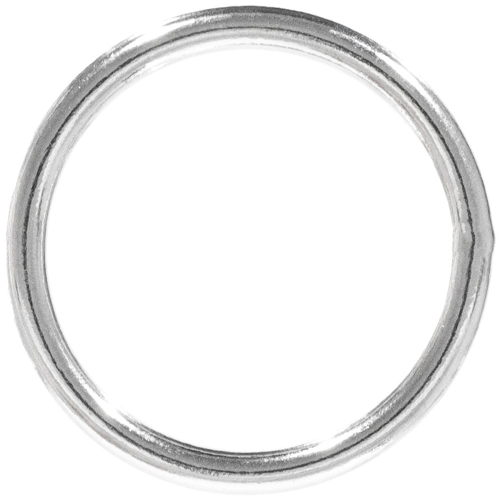 Craft County Metal O-Rings (Welded Steel, 1-1/2 Inch X 50 Pack) by Craft County