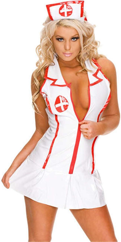 SxyBox Picardias Mujer Sexy Disfraz Enfermera Colegiala Cosplay Lenceria Erotica Ropa Interior Conjuntos Club Mini Vestidos para Navidad Halloween