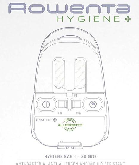 Bolsa Aspirador higiene Plus Rowenta - 4 bolsas y 1 filtro ...