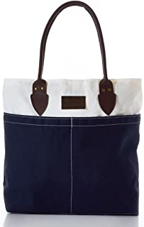 product image for Sea Bags Recycled Sail Cloth Chebeague Island Tote Navy