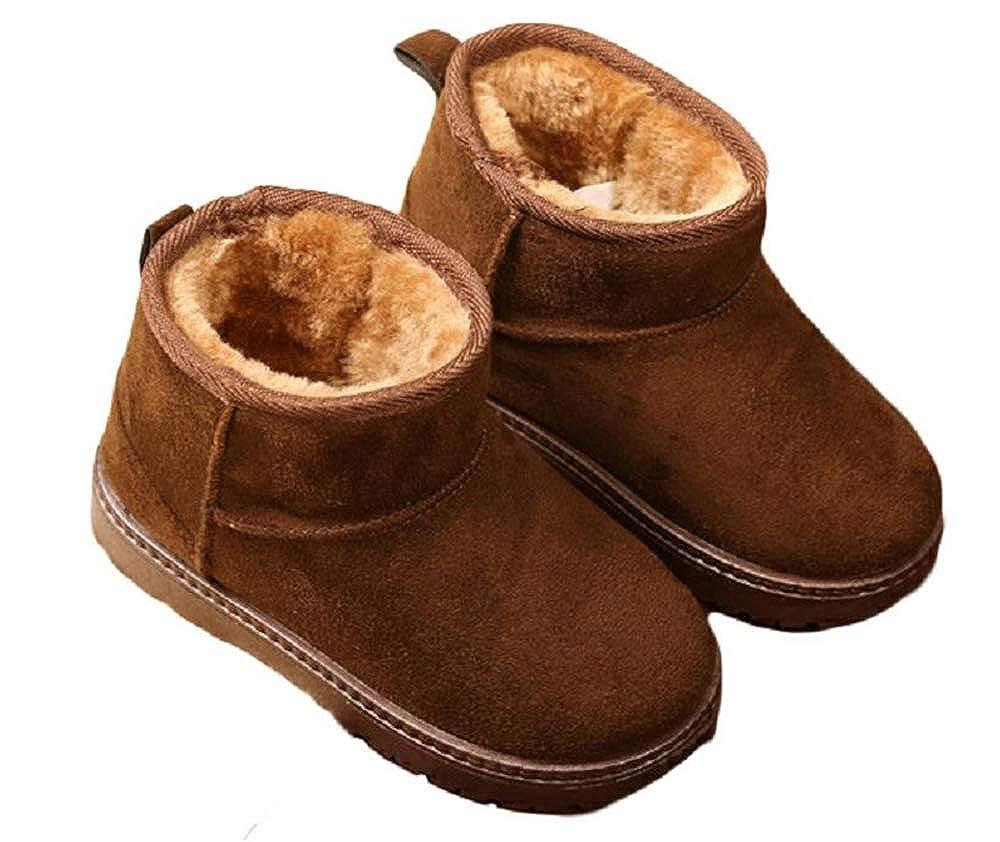 Kids Toddler Snow Boots for Boy Girl Winter Outdoor Waterproof Fur Lined Kids