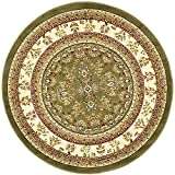 Safavieh Lyndhurst Collection LNH331C Traditional Oriental Sage and Ivory Round Area Rug (8′ Diameter) For Sale