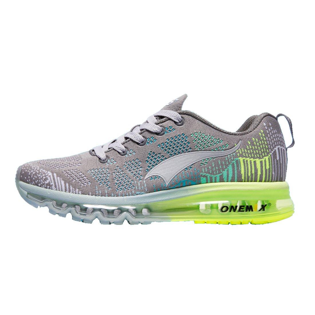 Onemix Men's Lightweight Air Cushion Sport Running Shoes 39 EU|Grigio