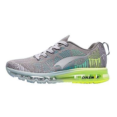 the best attitude 86fee 050ad ONEMIX Chaussures De Course Hommes-3D Knit Coussin d air Léger pour La  Marche