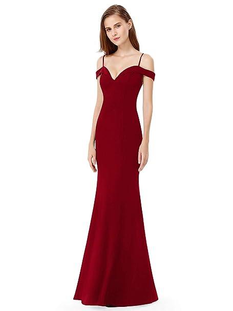 43405711f151 Ever-Pretty Vestito da sera da sera elegante senza maniche con spalle  scoperte da donna