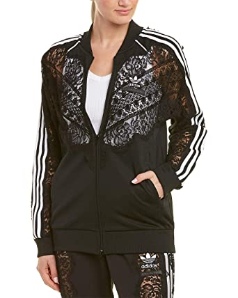f3bf8c62171c Stella McCartney Womens Adidas 3-Stripe Lace Jacket