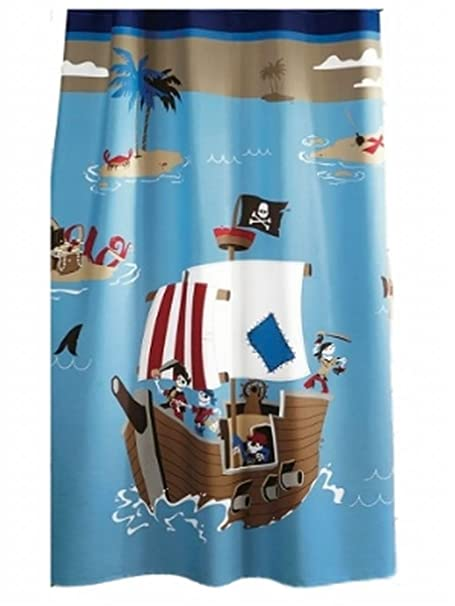 Circo Pirate Ship Fabric Shower Curtain Pirates Bath Decor