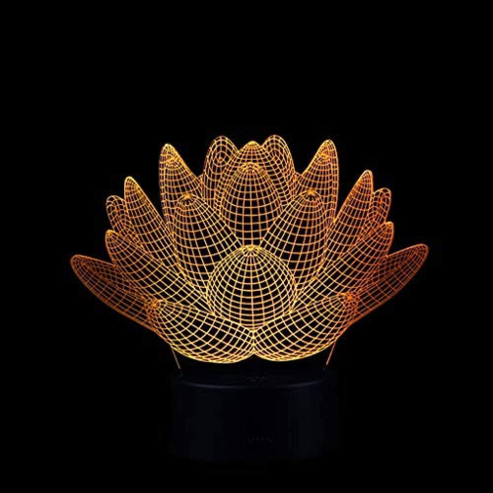 Bluetooth 7 y 16M Colores Aplicación móvil Luz nocturna óptica Visión 3D LED Flor Iluminada Tienda familiar Ambiente romántico niños amigos regalos de vacaciones