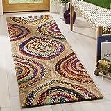 Cheap Safavieh CAP605A-28 Cape Cod Collection Flat Weave Handmade Runner, 2'3″ x 8′, Natural/Multi