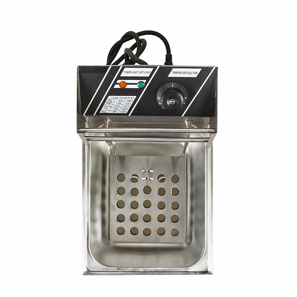 Flexzion Deep Fryer Dual Tank 3400W 12L Liter Electric Countertop Double Basket Stainless Steel for Commercial Restaurant Kitchen with Adjustable Temperature by Flexzion (Image #2)