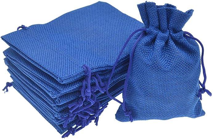 20 bolsas de muselina de algod/ón con cord/ón 8 por 7 pulgadas 3.2 x 3.9 inch