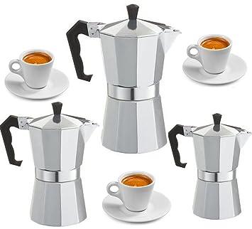Espressokocher Espressomaschine für 3 Tassen Espresso Aluminium