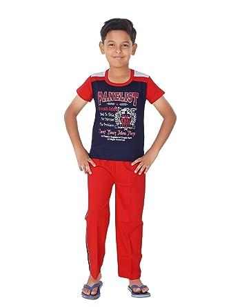 5ec9eb841d1 Ginessa Summer Night Suit for Kids   Boys - Night wear - Track Suits - Pyjama  Tshirt Night Wear Combo ...