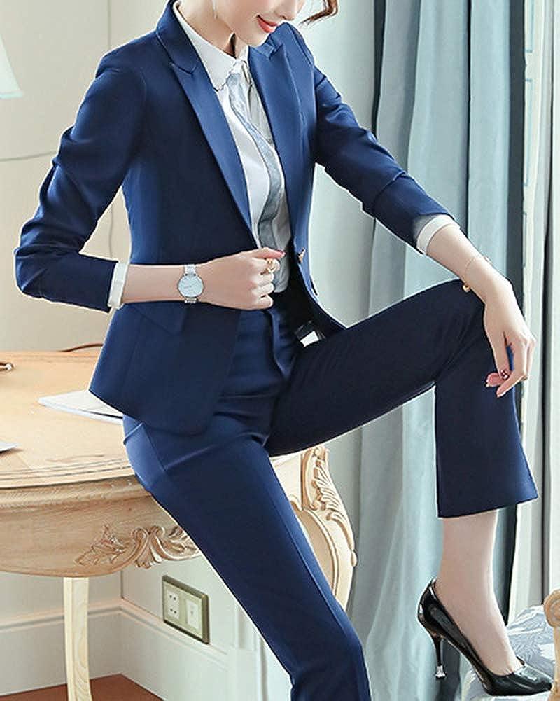 ShiFan Tailleur Donna Elegante Cappotto Ufficio Business Blazer Top Corto Ol Giacca da Abito