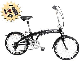Shimano 7 StVZO Dekor - Bicicleta plegable, 20 pulgadas, 7 velocidades, color negro