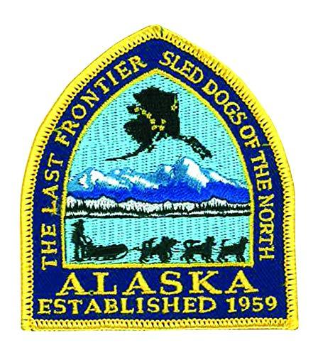Alaska National Park Logo Flag Patch Series Embroidered Sew/Iron on Badge DIY Appliques -
