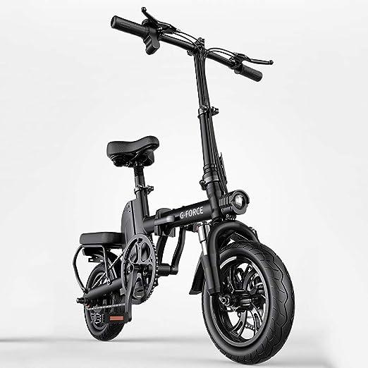 ZBB Bicicleta eléctrica 12 Pulgadas Plegable para Adultos con batería de Iones de Litio de 48