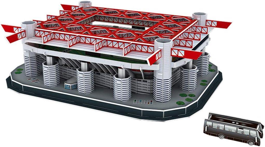 r/éplique du Stade San Siro /à la Maison Sperrins Mod/èle de Puzzle 3D de Terrain de Sport Jeux de Puzzle Bricolage pour Enfants Fans Cadeaux comm/émoratifs