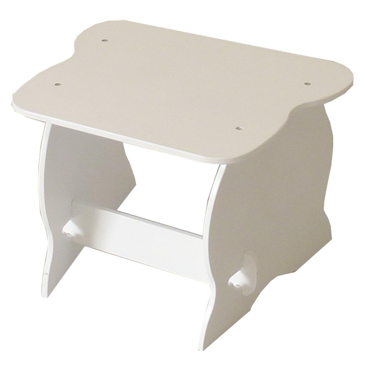 Room Studio 530001 - Tavolo per bambini in MDF, 55 x 43 x 41 cm, colore: bianco