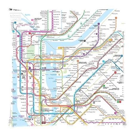 New York Subway Map Real Border.Vintage New York City Underground Tube Subway Map Throw Pillow Case