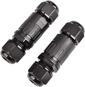 Verbindungsmuffe Kabelverbinder schraubbar IP68 für 3 adrige Kabel 1,0-2,5 mm²