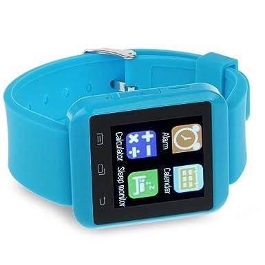 Youngfly U8 Bluetooth reloj inteligente reloj de pulsera teléfono para IOS y Android OS smartphone Samsung S4 S5 Nota 2 Nota 3 y HTC: Amazon.es: Electrónica
