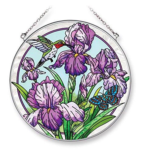 - Amia Iris Terrace, Hand-Painted Glass Circle Suncatcher, 6-1/2 Inches, 42268 6-1/2