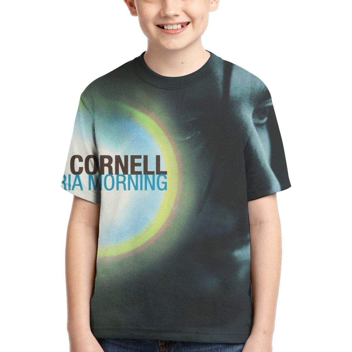 BowersJ Childs Chris Cornell Euphoria Morning Design 3D Printed Short Sleeve T Shirt for Girls /& Boys Black