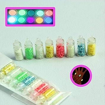 Amazon Com 1lot Colors Luminous Fluorescent Powder Sand
