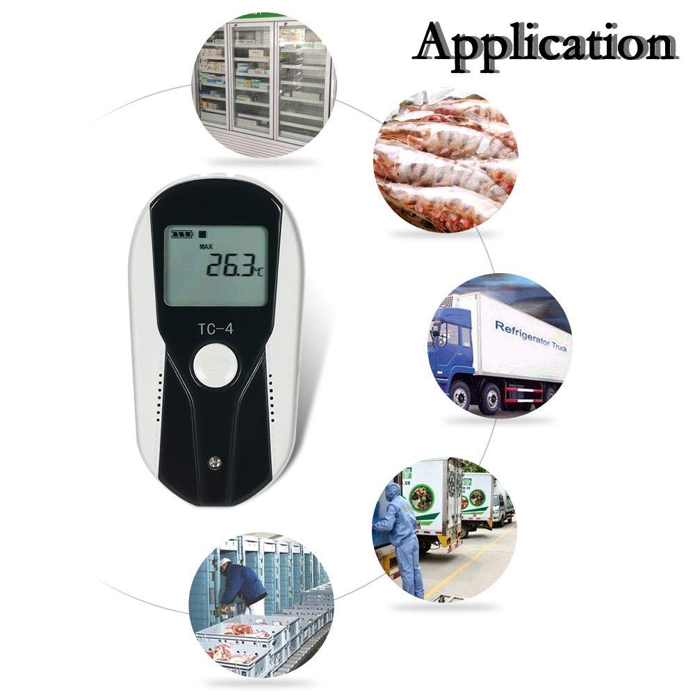 K/ühlhaus Docooler USB-Temperatur-Datenlogger LCD Tragbarer Datenlogger-Recorder Thermometer-Aufnahmemessger/ät mit externem Temperatursensor f/ür K/ühlcontainer Labor K/ühlcontainer