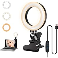 Foscomax Video Conference Lighting Kit, Dimmable LED Ring Light 3000-7500k Clip on Light Conference Light Zoom Lighting…